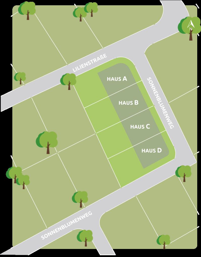 Quickborner Blumenviertel Lageplan WFM Immo
